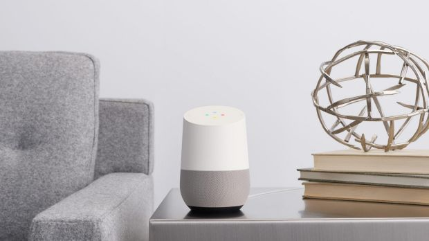 Google Home is surprisingly small, and unassuming enough to fit in most rooms of the house.