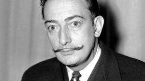 Spanish surrealist painter Salvador Dali pictured in New York in 1942.