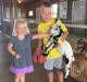 Kallan (right) and Kadan Maresh fell ill after visiting a Minnesota petting zoo.
