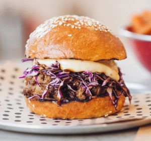 Warren Turnbull's booming Chur Burger has opened at the sprawling Rooty Hill RSL complex.