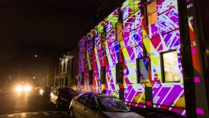 One of the projections at the 2017 festival.