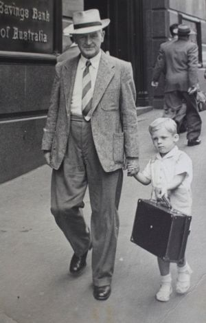 The author Ken Hillman with his grandfather.