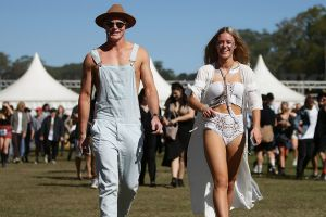 BYRON BAY, AUSTRALIA - JULY 21: Festival goers arrive at Splendour in the Grass 2017 on July 21, 2017 in Byron Bay, ...