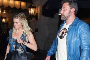 """Ben Affleck with """"regular girl"""" Lindsay Shookus in New York in July this year."""