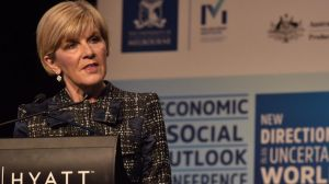 The US will remain dominant. Foreign Minister Julie Bishop at the Melbourne Institute outlook conference on Friday.