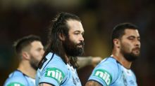 BRISBANE, AUSTRALIA - JULY 12:  Aaron Woods of the Blues looks on during game three of the State Of Origin series ...