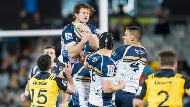 Rising above: James Dargaville has signed a new Brumbies contract.