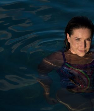 Rachelle Silver in Bronte Ocean Pool. The GP is training for an attempt to swim the English Channel to raise awareness ...