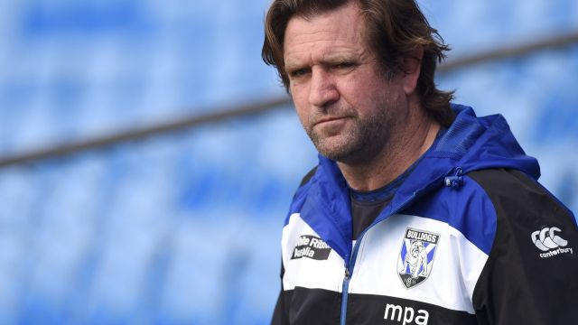 Under pressure: Des Hasler will be in the Bulldogs boardroom on Tuesday.