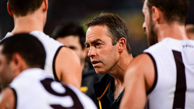 Coach Alastair Clarkson says the Hawks are on the right track.