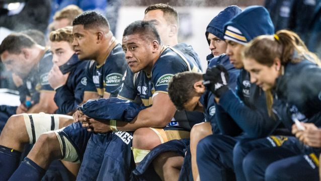 All over: The Brumbies bench realise their Super Rugby season has come to an end as the Hurricanes take charge in their ...