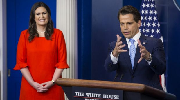Anthony Scaramucci said Sarah Sanders should 'continue to use the hair and makeup person'