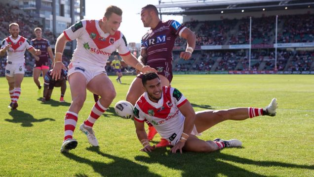 New home: The Dragons are considering taking a home game to Fiji next year.