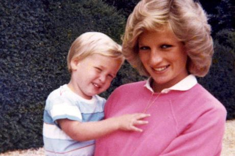 Princess Diana holding Prince William while pregnant with Harry, in a previously unseen photo which  features in the new ...