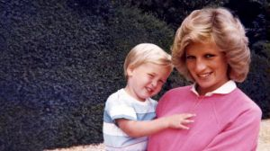 A photo of Diana, Princess of Wales, holding Prince William while pregnant with Harry features in the new documentary ...