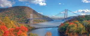 River cruising takes you into some spectacular country in the US, such as along the Hudson River.