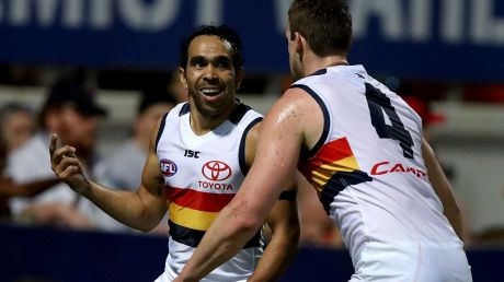 Eddie Betts was rushed to hospital on Sunday.
