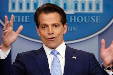 The short-lived White House communications director Anthony Scaramucci