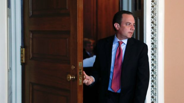 Humiliated: Reince Priebus was put in charge of killing a fly that had made its way into the Oval Office.