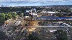 The former Alphington paper mill site under development.