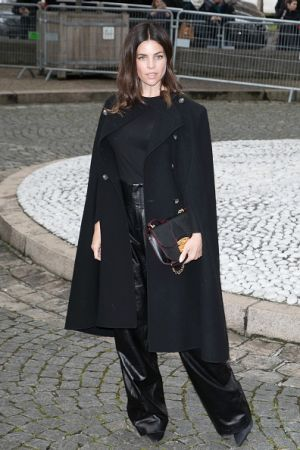 Julia Restoin Roitfeld outside the shows at Paris Fashion Week.