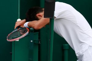What am I doing here?: Bernard Tomic did not have a good time at Wimbledon.