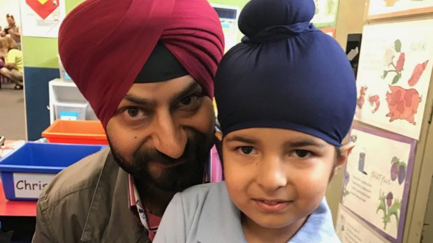 Sagardeep Singh Arora with his son Sidhak.