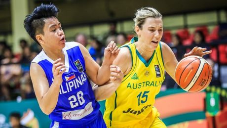 Opals forward Sara Blicavs top-scored against The Philippines on Monday.