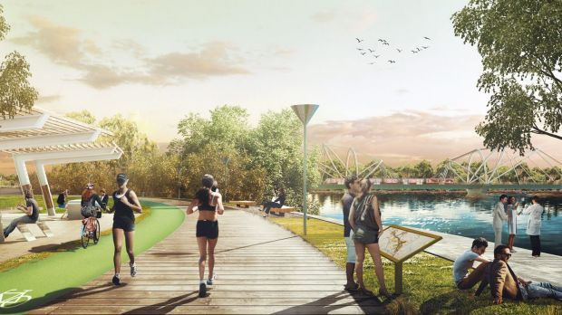Impression Of The Greater Parramatta Proposed Redevelopment At Silverwater Park
