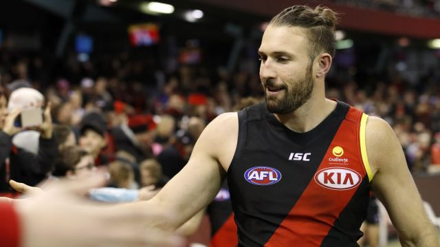 Essendon's Cale Hooker will play his 150th match this weekend.