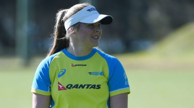 She's back: Nicole Beck has returned to training with the Australian sevens squad in Narrabeen.