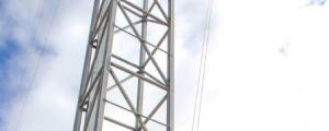 Queensland farmer Andrew Sevil builds his own?53-metre telecommunications tower to boost internet speeds. Photo: ...