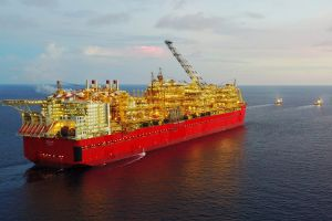 DCIM\100MEDIA\DJI_0155.JPG Shell Australia's Prelude floating LNG platform has arrived in Australia