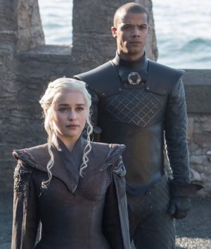 Directional leather is a key trend in Game of Thrones this season.