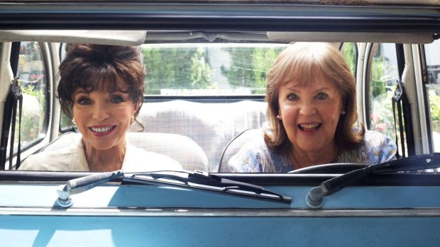 Joan Collins and Pauline Collins (right, no relation) star in the feel-good movie The Time of Their Lives.