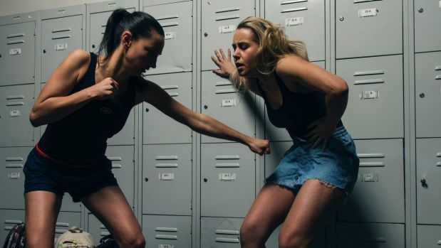 Sarah Meacham and Patricia Pemberton play teenage friends in Dry Land, which features an induced abortion.