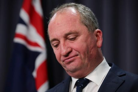 Deputy Prime Minister Barnaby Joyce at Parliament House on Wednesday.