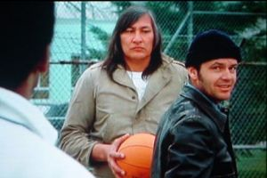 Will Sampson as the Chief (centre) with Jack Nicholson as McMurphy in the film, which author Ken Kesey refused to watch.
