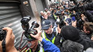 Cardinal George Pell Leaving the Melbourne Magistrates Court.