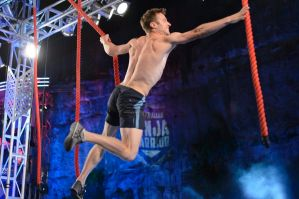 Lee Cossey in the Australian Ninja Warrior grand finale.