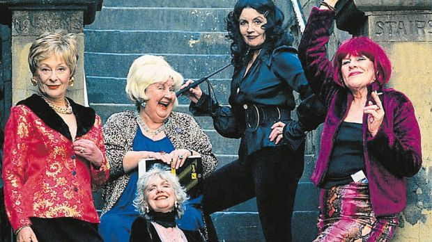 The Oldest Profession, 2001. Doreen in the blonde wig second from left, so it goes Noelene Brown, Doreen, Betty Lucas ...