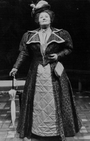 "Doreen Warburton as Lady Bracknell in The Q's production of ""The Importance of Being Earnest"" in September 1979."