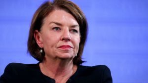 Anna Bligh defended the banking industry in an address to the National Press Club.