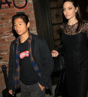Jolie with son, Pax Jolie-Pitt in May, 2017.