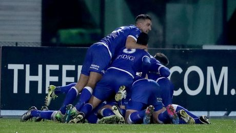 Celebration: South Melbourne are through to the round of 16 for the first time.