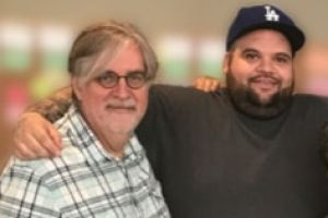 Briggs with Simpsons creator Matt Groening.