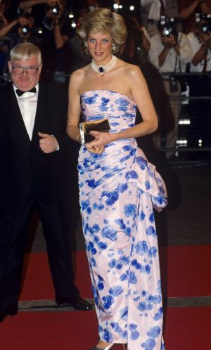 "In Catherine Walker, at a film premiere in 1989. ""I just love the