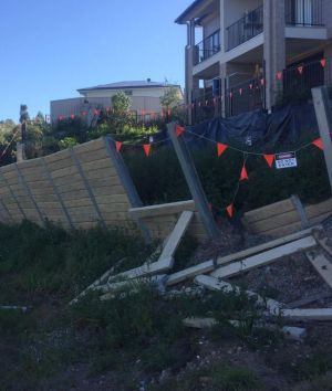 The Palm Beach retaining wall slippage has worsened since Fairfax Media's first visit.