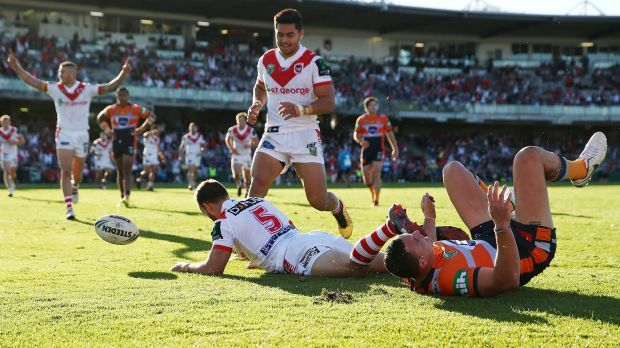 Try time: Jason Nightingale had a field day in the reverse fixture a few weeks ago.