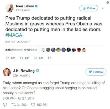 Harry Potter author J.K. Rowling could compile a whole book of great clap-backs she has dissed people on social media ...